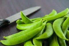 Bönor haricot vert, ärtor, morot, lagade mat haricot vert, radbönor, sparris, snittharicot vert, havre, grönsaker, brocco Arkivfoto