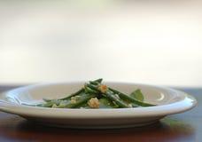bönor plate white fotografering för bildbyråer