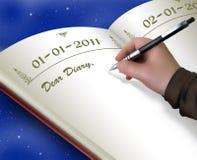 börja den nya dagboken Arkivbilder