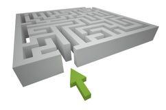 Början av banan till och med labyrinten vektor illustrationer