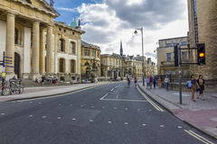 Början av den breda gatan med talrika historiska byggnader Fotografering för Bildbyråer