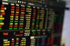 Börse auf Schirm Lizenzfreies Stockfoto