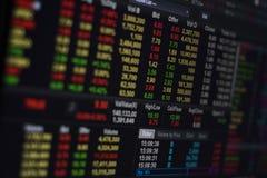 Börse auf Schirm Lizenzfreie Stockfotos