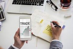 Börse-Austausch-Wirtschafts-Investitions-Diagramm stockfoto
