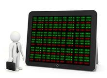 Börse-Börsentelegraf-Brett Stockfoto