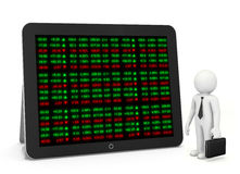 Börse-Börsentelegraf-Brett Stockbild