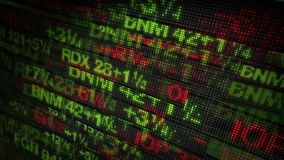 Börse-Börsentelegraf-Digital-Daten stock abbildung