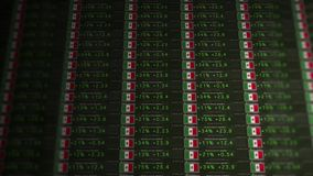 Börse-Börsentelegraf einer emporkommenden Wirtschaft - der Iran-Version stock video footage