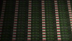 Börse-Börsentelegraf einer emporkommenden Wirtschaft - der Iran-Version stock footage