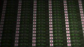 Börse-Börsentelegraf einer emporkommenden Wirtschaft - Japan-Version stock video footage