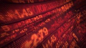 Börse-Börsentelegraf-Preis-Daten-Animation lizenzfreie abbildung