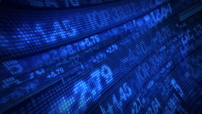 Börse-Börsentelegraf-Preis-Daten-Animation stock abbildung
