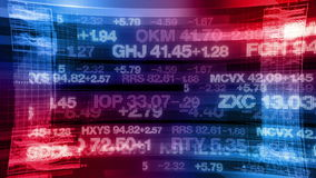 Börse-Börsentelegrafen - Digital-Datenanzeige-Hintergrund stock video footage