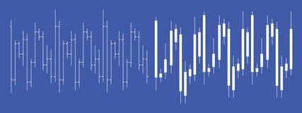 Börse Devisenkerzenständerdiagramm lizenzfreies stockbild