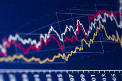 Börse-Diagramm Stockfoto