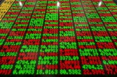 Börse-Digital-Brett Stockbild