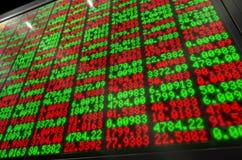 Börse-Digital-Brett Stockfotografie