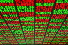 Börse-Digital-Brett Stockfoto
