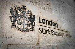 Börse-Gruppe Londons stockfotos