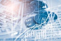 Börse oder Devisenhandelsdiagramm und -kerzenständer entwerfen suitab Stockfotos