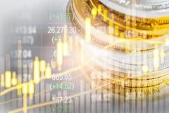 Börse oder Devisenhandelsdiagramm und -kerzenständer entwerfen suitab Stockfoto