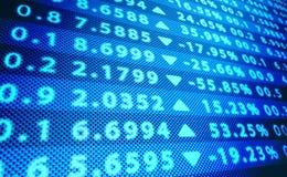 Börse-Schirm Stockfotos