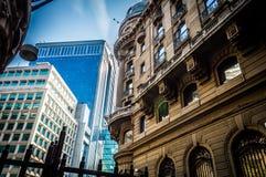 Börse-Straße, Santiago, Chile stockbild