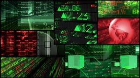 Börse-u. Finanzdaten-Montage lizenzfreie abbildung