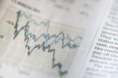 Börse und Zeitung Stockfotos