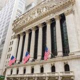 Börse von New York auf Wall Street Stockfoto
