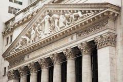 Börse von New Yorken-Gebäude in Manhattan - USA - vereinigtes sta Lizenzfreies Stockbild