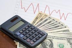 Börseanalyse mit Bargeld Stockfotos