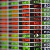 Börseen-Anführungsstrich-Bildschirm Lizenzfreies Stockbild