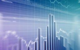 Börseen-Diagramm Lizenzfreie Stockfotografie