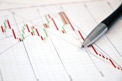 Börseen-Diagramm Stockbild