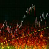 Börseen-Diagramm Lizenzfreies Stockbild