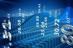Börseendiagramm Stockbilder