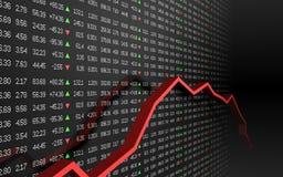 Börseendiagramm Lizenzfreies Stockfoto