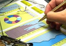 Börseendiagramme Stockbilder
