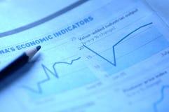Börseendiagramme Stockfotos