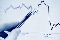 Börseendiagramme. Lizenzfreie Stockfotografie
