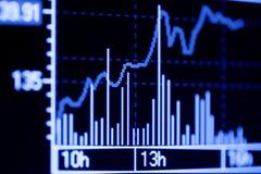 Börseendiagramme. Stockfotos