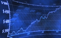 Börseengelddiagramm Stockfoto