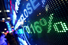 Börseenpreisauszug Lizenzfreies Stockbild
