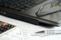 Börseenreports. Stockfoto