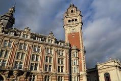 Börsegebäude-Glockenturm von Lille, Frankreich Lizenzfreies Stockfoto