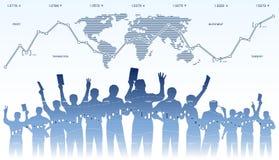 Börsehändlerteamwork Stockfoto