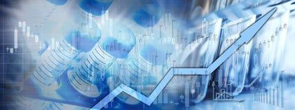 Börsehintergrund des Gesundheitswesens lizenzfreies stockbild