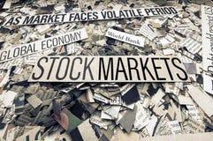 Börsen der Nachrichten Stockbilder