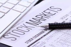 Börsenberichte Stockfoto